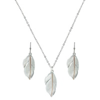 Downy Feather Jewellery Set