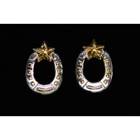 Earrings Horseshoe and Star