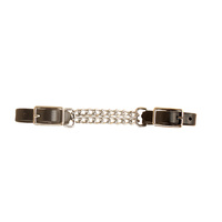 Curb Strap with Double Chain, Black