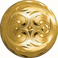 Concho Round Gold 1 1/2""