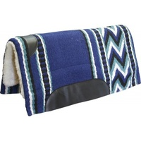 Fleece Western Pad with Blue Navaho