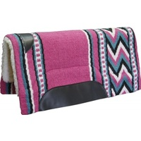 Fleece Western Pad with Pink Navaho