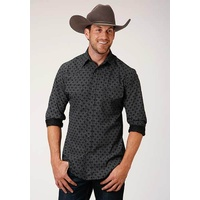Mens 55/45 Black & Grey Shirt