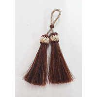 Horse Hair Tassel Double, Brown #1