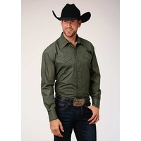 Mens Amarillo Olive Star Shirt