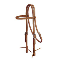 Double & Stitched Harness Leather Straight Brow Bridle
