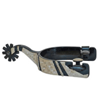Black Satin Trim & Roper Show Spur (Mens & Ladies)