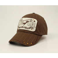 Cowgirl Plate Cap, Brown