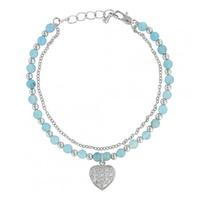 Love the Earth and Sky Heart Charm Bracelet