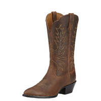 Womens Heritage Western R-Toe, Distressed Brown