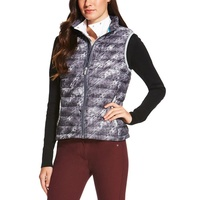 Ariat Wms Ideal Down Vest, Fur Print