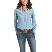 Womens REAL Fierce Shirt, Indigo