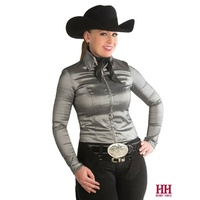 Taffy Show Blouse, Charcoal