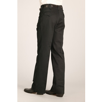 Cotton Snap Dress Pants, Black