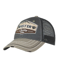 Mens Patch Logo Cap, Navy/Cream