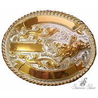 Small 3 Ribbon Trophy Buckle