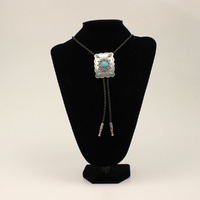 Bolo Tie Turquoise Rectangle