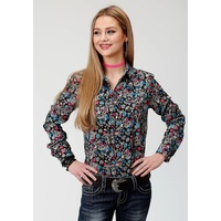 Womens Five Star Black Floral Shirt