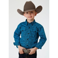 Boys Amarillo Blue Paisley Shirt