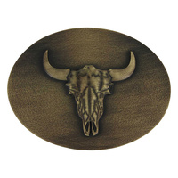 Heritage Defined Buffalo Skull Attitude Buckle