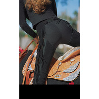 Women's PMS Split Leather Chaps, Black