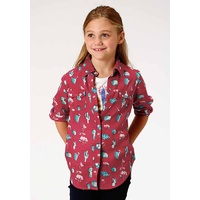 Girls Five Star Shirt, Pink Cactus