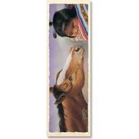 Bookmark - Native American Girl & Foal