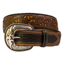 Carved Design Mens Belt