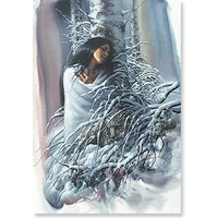 Christmas Card CB - Native American Woman