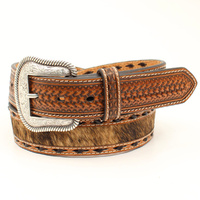 Basketweave & Calf Hair Belt