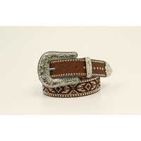 Ladies Brown Aztec Belt