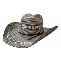 Rio Straw Hat, Black and White