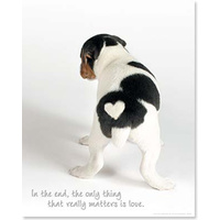 Poster - Love Heart Puppy
