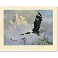 Poster - Eagle over Mountains