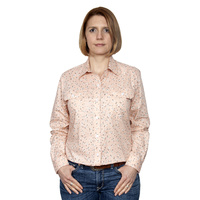 Womens Abbey Workshirt, Blush Orchids