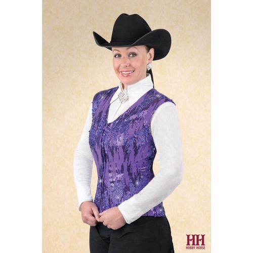 Icicle Show Vest, Purple 2X